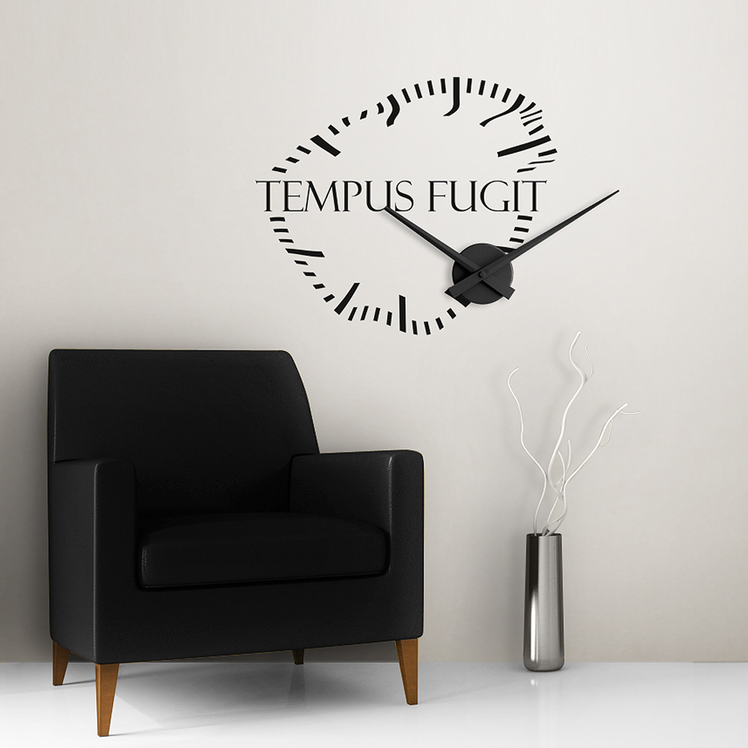 tempus fugit wall clock instructions