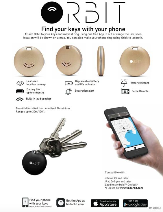 orbit find your keys instructions