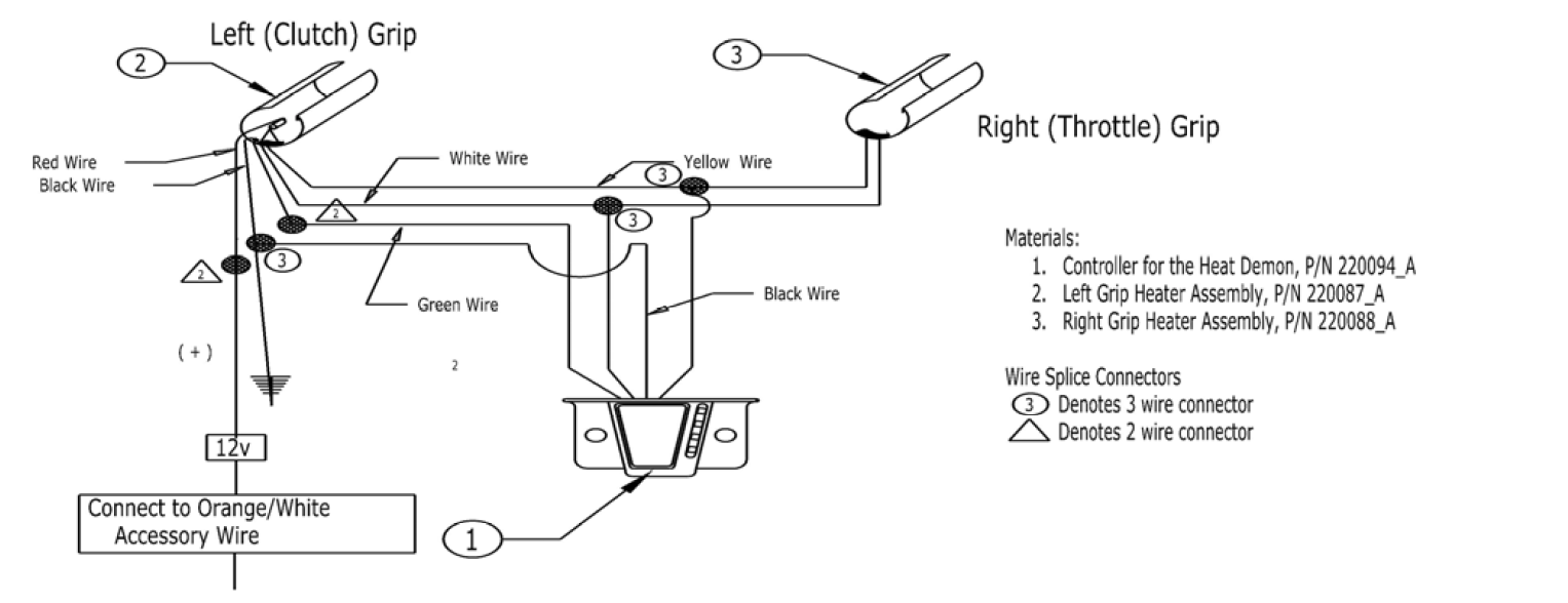 harley heated grips instructions