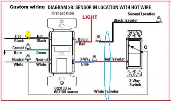 motion sensor wiring instructions
