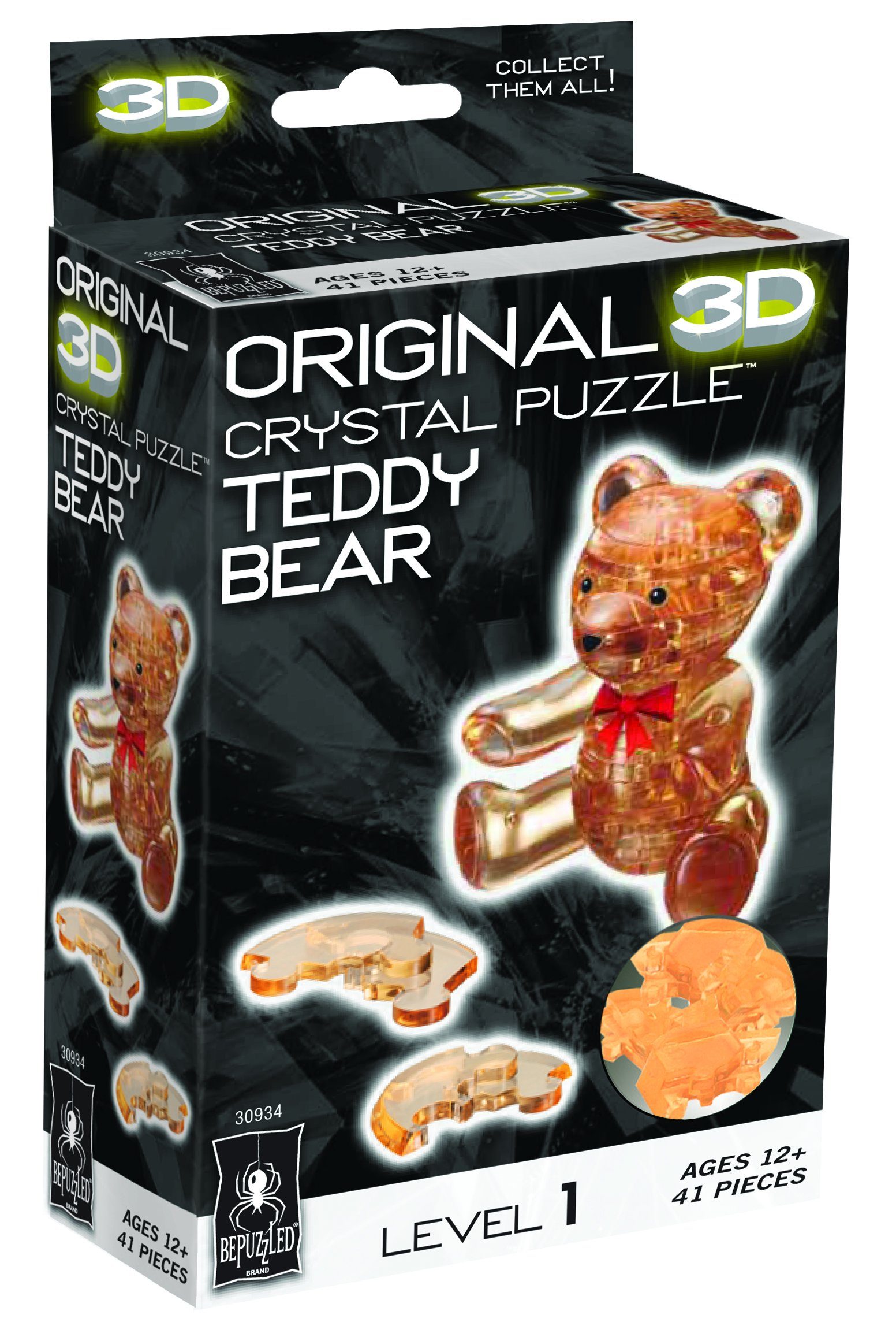 original 3d crystal puzzle teddy bear instructions