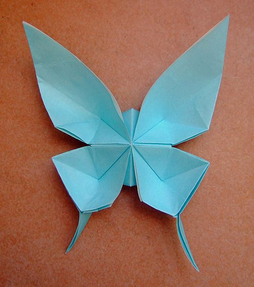 origami swallowtail butterfly instructions