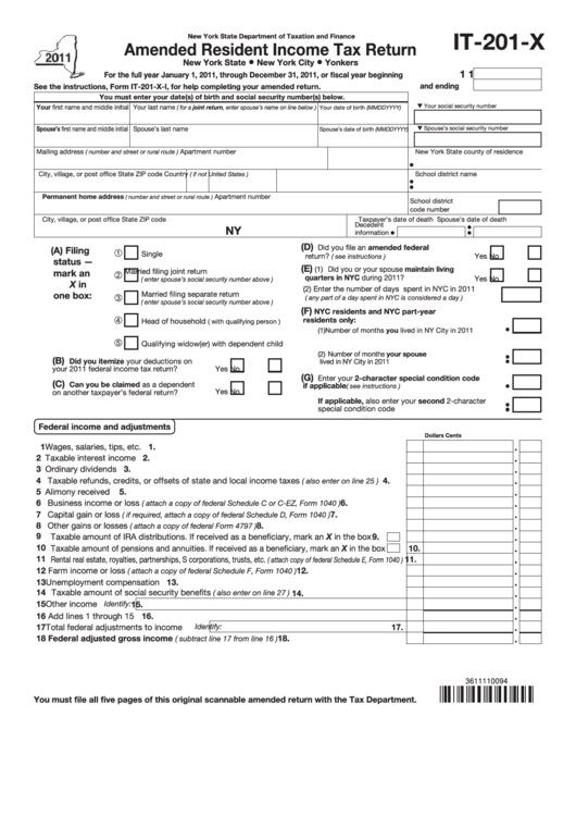 2011 income tax return instructions