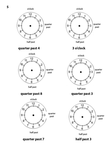 my first clock instructions
