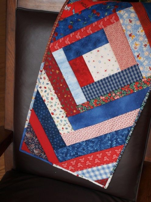 quilt as you go table runner instructions