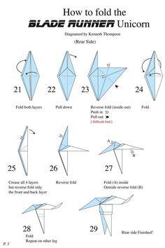 blade runner unicorn origami instructions