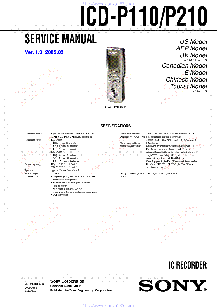 sony voice recorder instructions