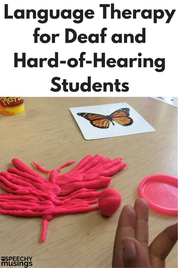 instructional materials for hearing impaired students