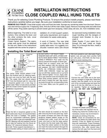 toto wall hung toilet installation instructions