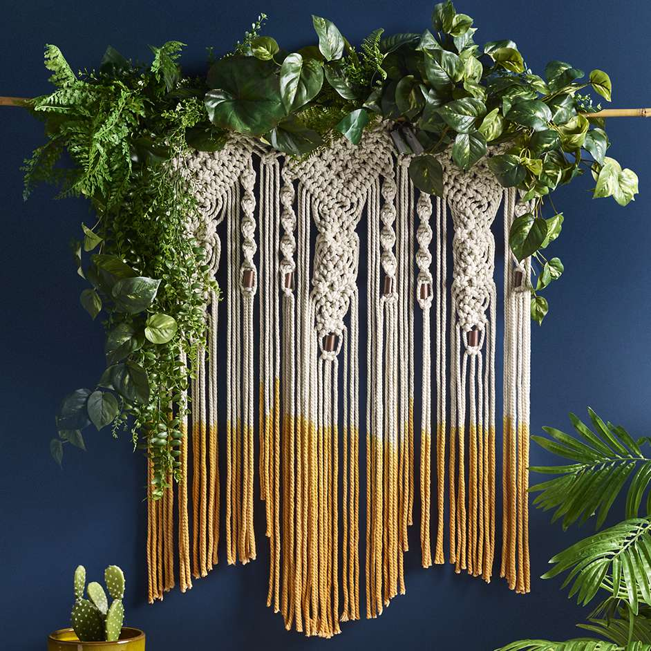 macrame hanging table instructions