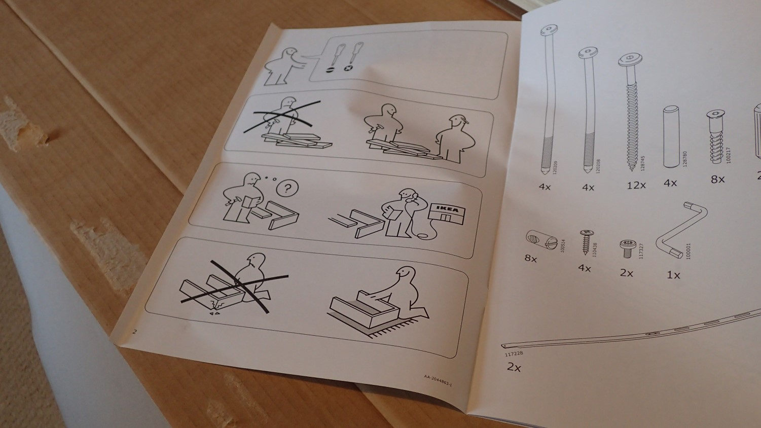 ikea bed assembly instructions