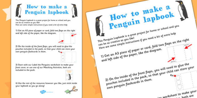 doodle penguin instruction sheet