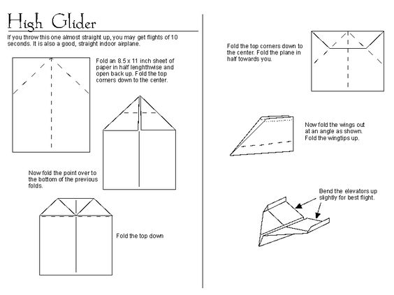 sick paper airplane instructions