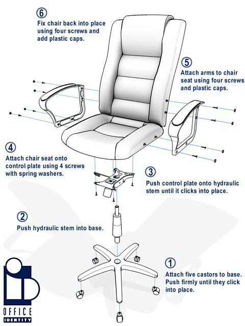 office chair assembly instructions