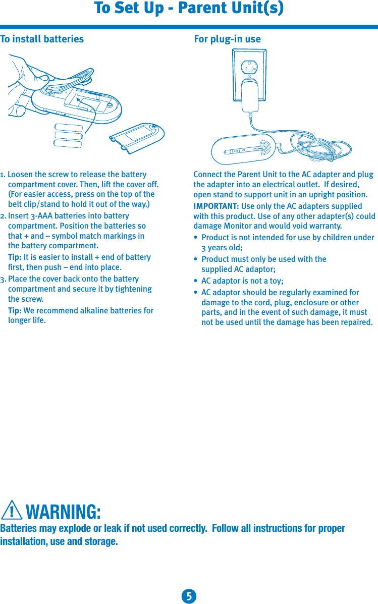 tomy walkabout baby monitor instructions