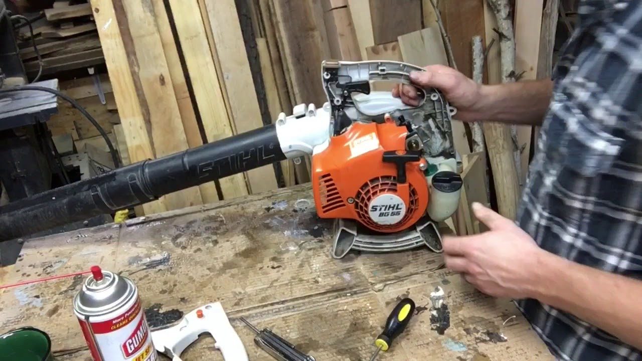 stihl bg55 starting instructions