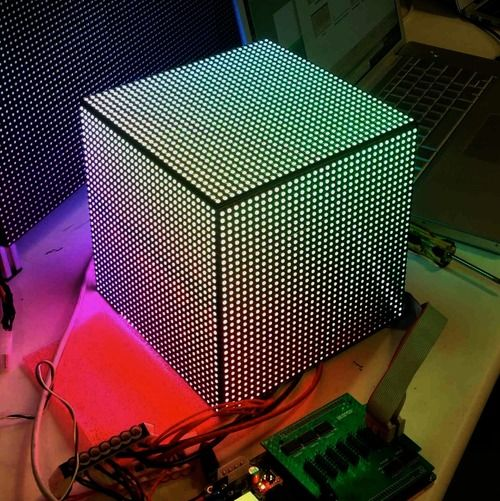 16x16x16 led cube instructables