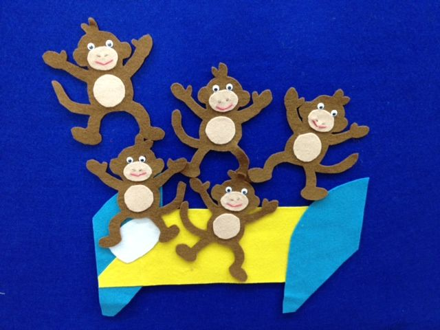 five little monkeys jumping on the bed card game instructions