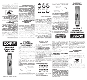 conair electric shaver instructions