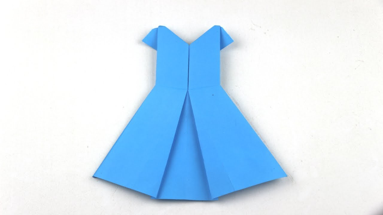how to make an origami dress instructions