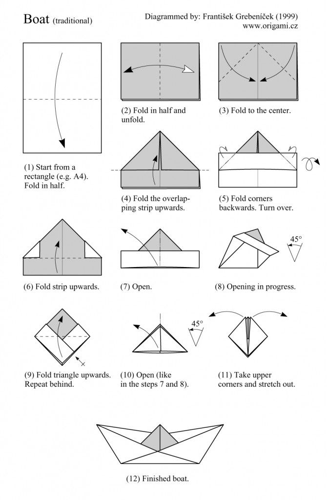 how to make an origami boat instructions