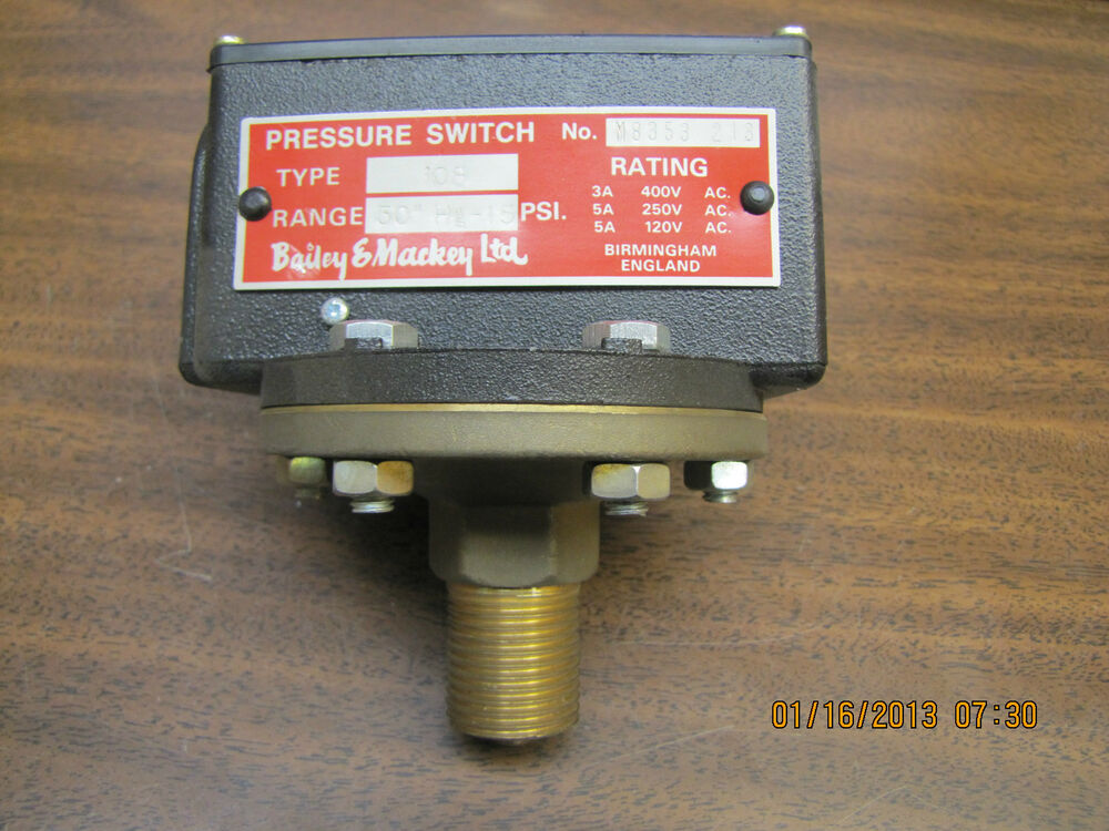 bailey and mackey pressure switch instructions