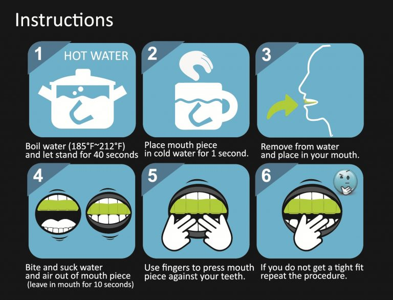 oral b mouth guard instructions