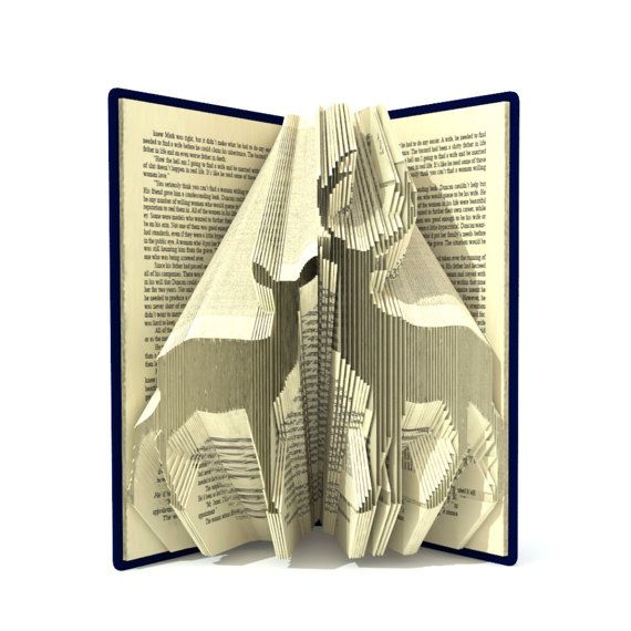 folded book sculpture instructions