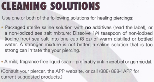 tongue piercing care instructions