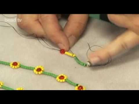 instructions on how to make a daisy chain bracelet