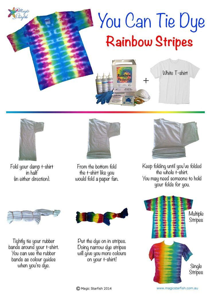 tie dye shirts instructions easy