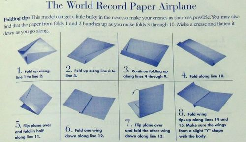 paper aeroplane folding instructions