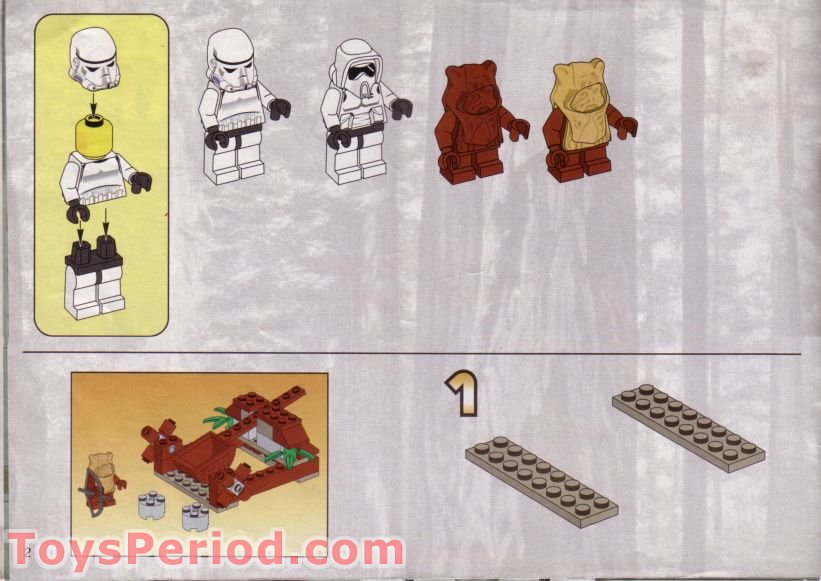 lego star wars ewok attack instructions