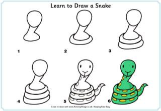 snake puzzle heart instructions