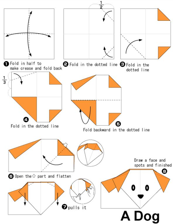 simple origami fish instructions