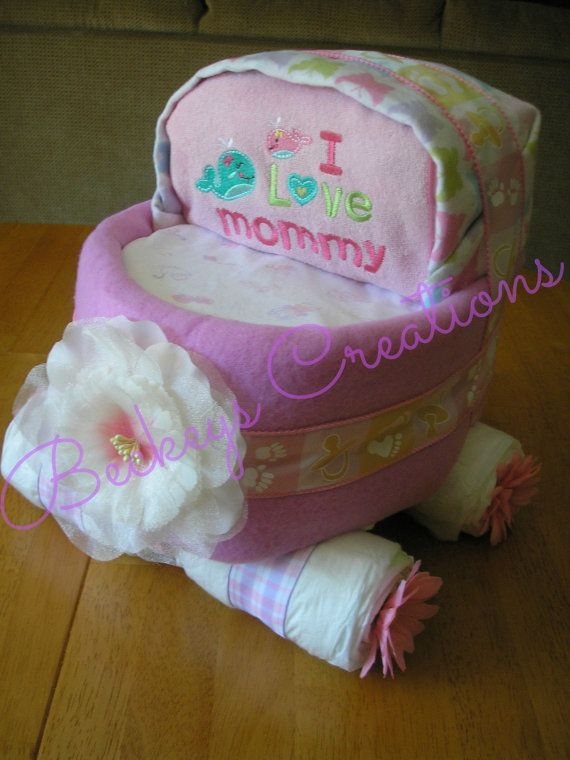 baby carriage diaper cake instructions