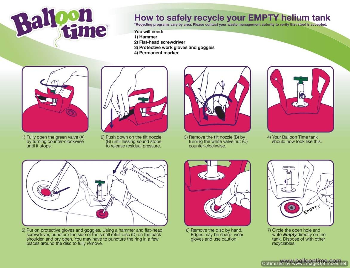 balloon time helium tank instructions