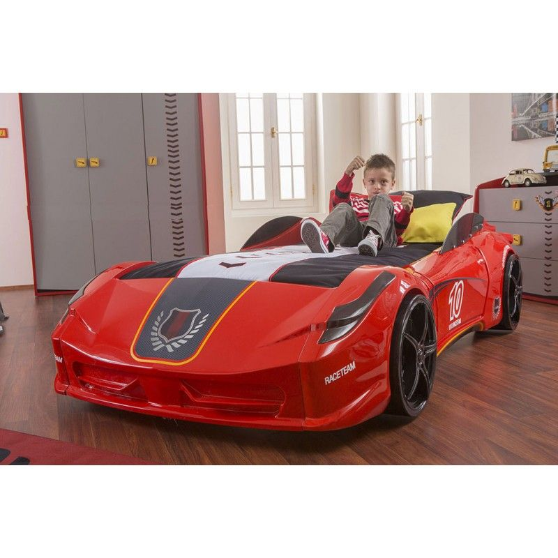 red racing car bed instructions