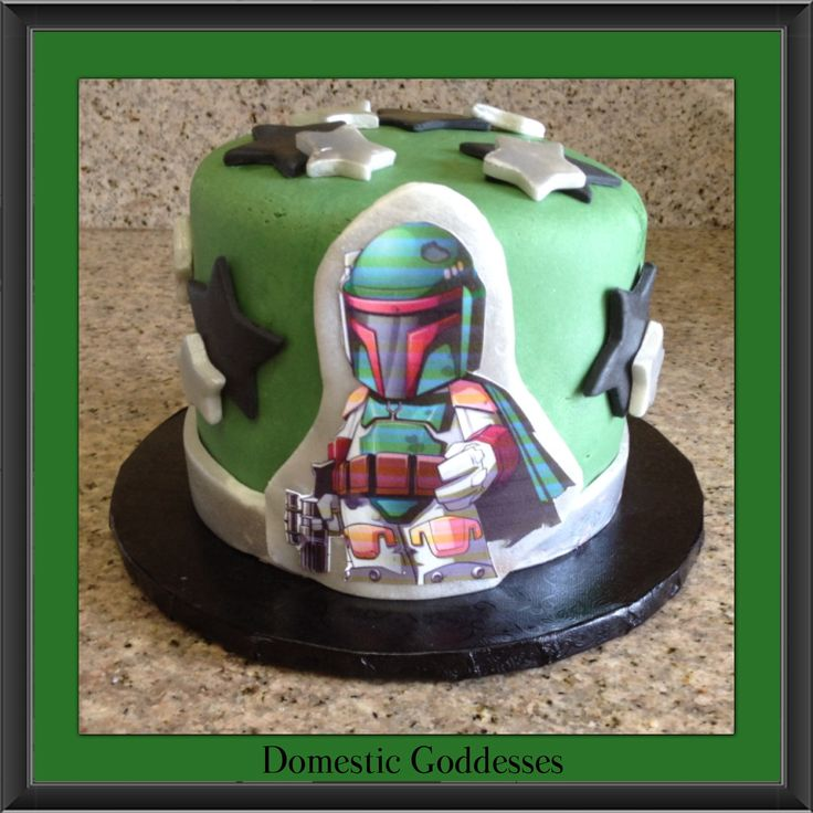 boba fett cake instructions