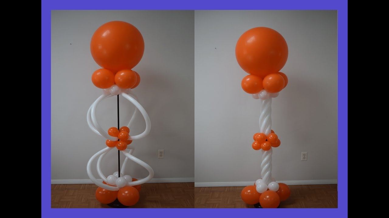 how to make balloon columns instructions