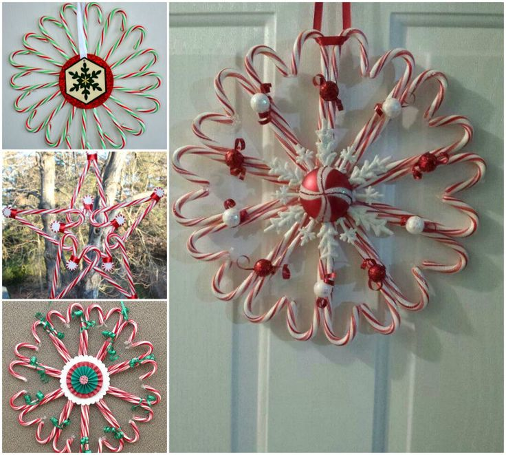 candy cane wreath instructions