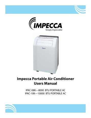 coolway portable air conditioner instructions