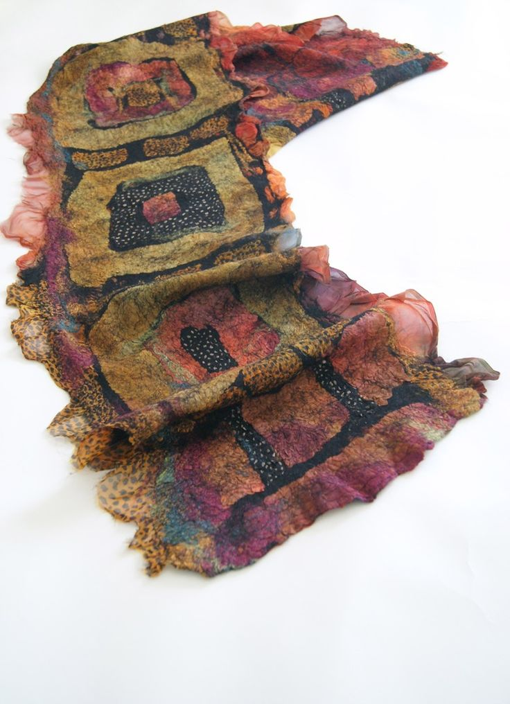 nuno felted scarves instructions