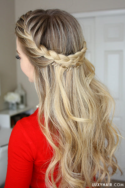 how to french braid hair step by step instructions