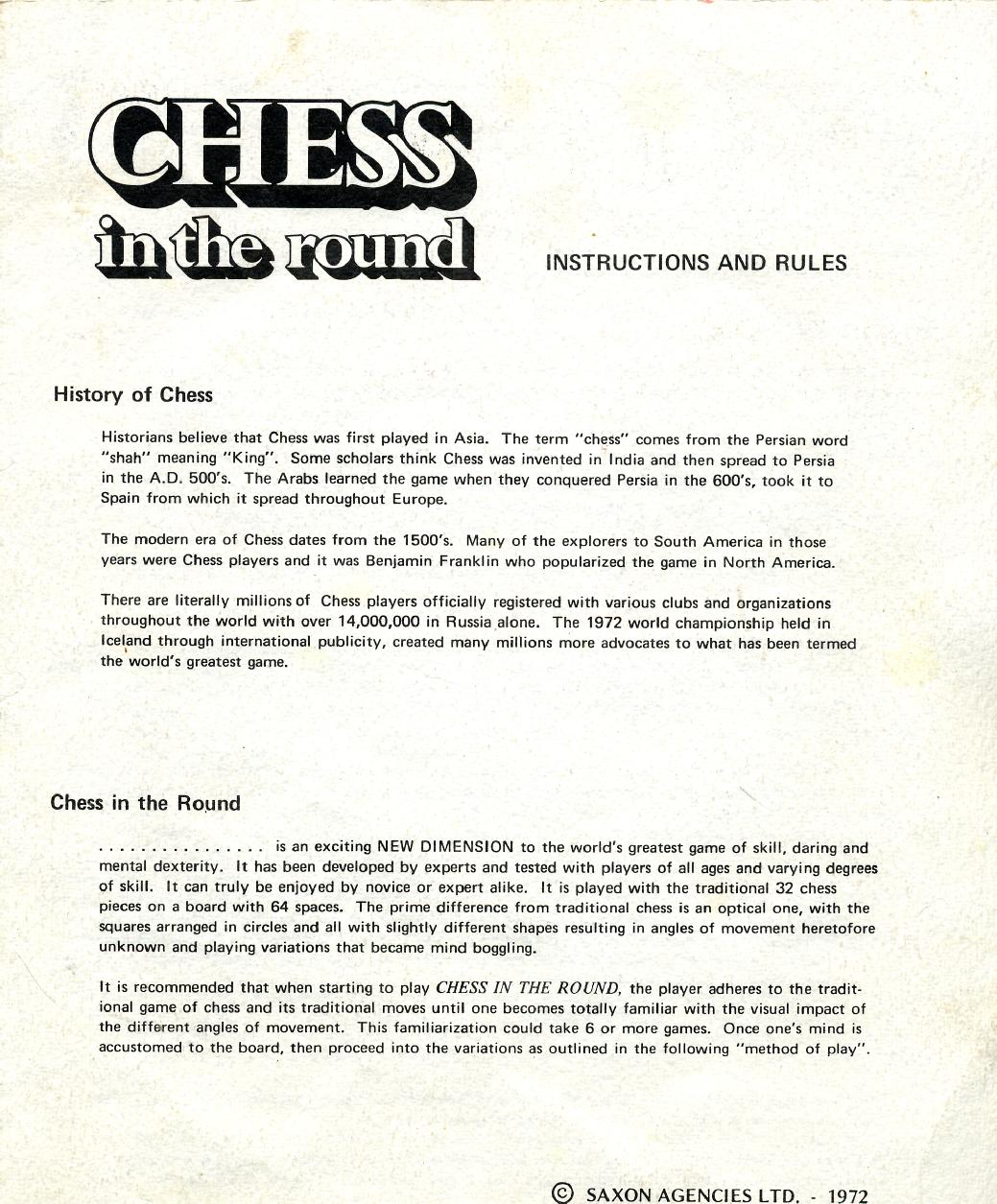 how to play chess instructions