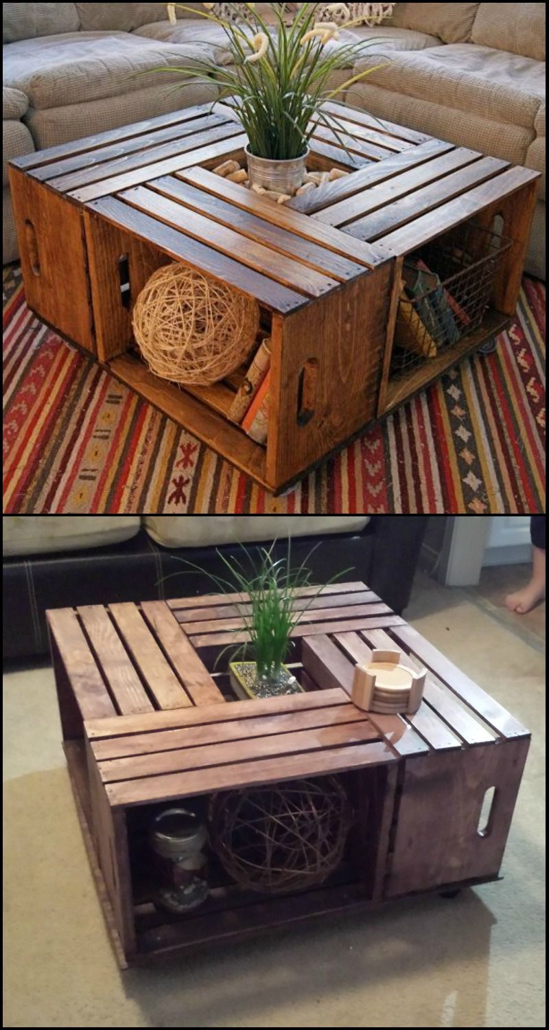 diy crate coffee table instructions