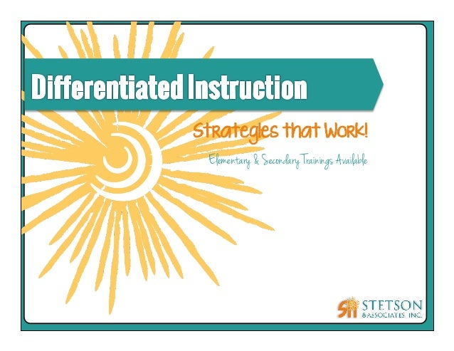 differentiated instruction training for teachers