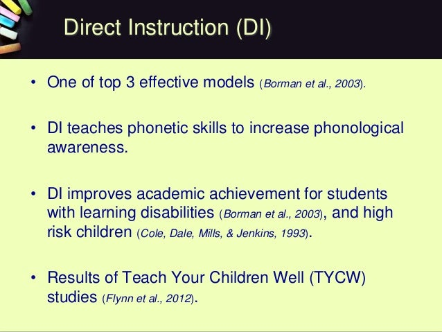 effectiveness of direct instruction teaching