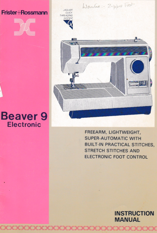 frister and rossmann sewing machine instructions