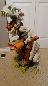 imaginext dinosaur mountain instructions